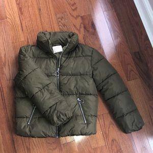 Alte'd state olive green puffer coat